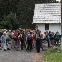 le groupe en randonnée