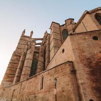Die Kathedrale La Seu bei Abendstimmung