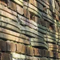 mur du bâtiment de séchage