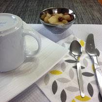 (DR) poires aux épices-CASA chambres d'hôtes-Val de Somme-Corbie-Amiens-Villers Bretonneux-B&B- Guesthouse-Petit déjeuner