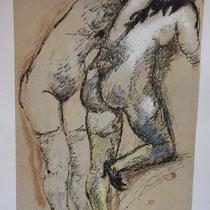 MARINO MARINI, Nr. 3: Due nude – Zwei Akte 1926, Replik aus der Werkausgabe Marino Marini 1968, 268/2000