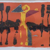 MARINO MARINI, Chevaux et Cavaliers IV, Orig. Farblithografie, Wvz 268, 1972, E.A. 4/10, handsigniert