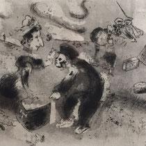 MARC CHAGALL, Tschitschikow als Zöllner, aus: Die toten Seelen (Gogol), Blatt 84, Orig. Radierung, drucksigniert, 1923-27, 1948, Ex.292/335