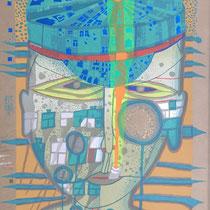 Friedensreich Hundertwasser, One of five seamen, Orig. Farbserigrafie, HWG 66 (748), handsigniert, 1975/1976, LXXXVII/LXXXVII