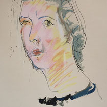 MARINO MARINI, Nr. 20: Ritratto di Maria – Portrait von Maria, 1943, Replik aus der Werkausgabe Marino Marini 1968, 268/2000
