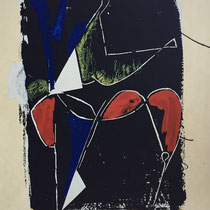 MARINO MARINI, Nr. 54: Improvisazione di teatro – Theater-Improvisation, 1960, Replik aus der Werkausgabe Marino Marini 1968, 268/2000