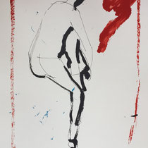 MARINO MARINI, Nr. 41: Nudo da dietro - Rückenakt, Replik aus der Werkausgabe Marino Marini 1968, 268/2000