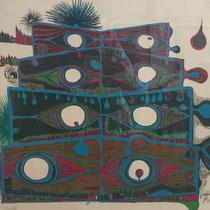 Friedensreich Hundertwasser,Die Augen des Macchu Picchu, Orig. Farblithografie, handsigniert, 1966, Aufl. 110/132