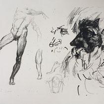 MARINO MARINI, Nr. 1: Costruzione – Konstruktion, 1922, Replik aus der Werkausgabe Marino Marini 1968, 268/2000