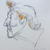 MARINO MARINI, Nr. 60: Chagall, 1962, Replik aus der Werkausgabe Marino Marini 1968, 268/2000