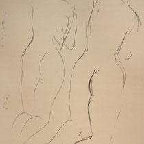 MARINO MARINI, Nr. 22: Due versioni – Zwei Versionen, 1943, Replik aus der Werkausgabe Marino Marini 1968, 268/2000