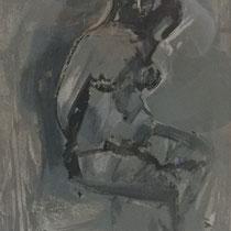 MARINO MARINI, Nr. 17: Pomona seduta – Sitzende Pomona, 1942, Replik aus der Werkausgabe Marino Marini 1968, 268/2000