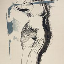 MARINO MARINI, Nr. 10: Nella danza – tanzend, 1940, Replik aus der Werkausgabe Marino Marini 1968, 268/2000