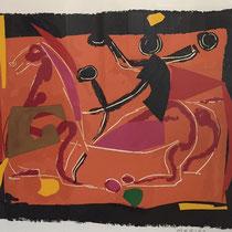 MARINO MARINI, Chevaux et Cavaliers III, Orig. Farblithografie, Wvz 267, 1972, 24/75, handsigniert