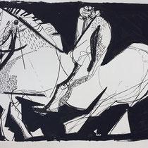 MARINO MARINI, Nr. 63: Scenario - Szenerie, Replik aus der Werkausgabe Marino Marini 1968, 268/2000
