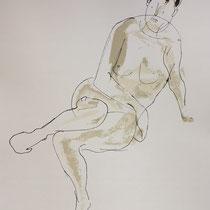 MARINO MARINI, Nr. 37: Riposo – Ruhe, 1948, Replik aus der Werkausgabe Marino Marini 1968, 268/2000