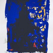 MARINO MARINI, Nr. 55: Fantasia in blu – Fantasie in Blau, 1960, Replik aus der Werkausgabe Marino Marini 1968, 268/2000