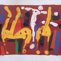 MARINO MARINI, Chevaux et Cavaliers V, Orig. Farblithografie, Wvz 269, 1972, E.A. 4/10, handsigniert