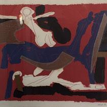 MARINO MARINI, Chevaux et Cavaliers VI, Orig. Farblithografie, Wvz 270, 1972, 24/75, handsigniert