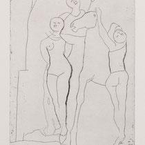 MARINO MARINI, Il Teatro, Orig. Radierung, Wvz 229, 1970, 15/40, handsigniert