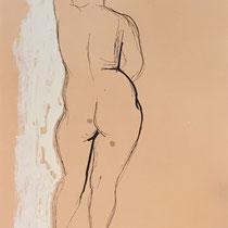 MARINO MARINI, Nr. 31: Nudo da dietro – Rückenakt, 1945, Replik aus der Werkausgabe Marino Marini 1968, 268/2000