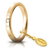 Fedi Nuziali Nuziale Unoaerre Cerchi di Luce 2,5 mm Oro giallo con diamante Gr. da 3,70 a 5,10 Referenza: 25 AFC 2/100