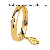 Fedi Nuziali  Comoda oro giallo 4 mm
