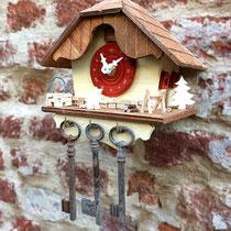 chalet porta chiavi da parete