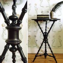 Antiker Reisetisch Historismus Tisch ebonisiert 1880