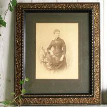 Antikes handcoloriertes Portraitfoto Emilie Bieber um 1880