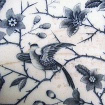 Antike Villeroy & Boch Porzellan Schale Fasan
