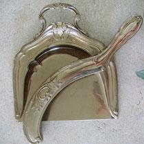Tischfeger Set Prägeblech galvanisiert 1920