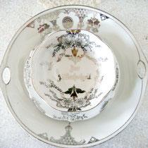 Antikes Silberhochzeits- Geschirr