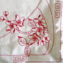 Antikleinen Wäschebeutel handbestickt um 1900