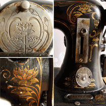 Antike Gritzner Nähmaschine Ende 19. Jahrh. Jugendstil Dekor