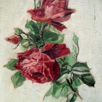 Antikes Bild Ölgemälde auf Leinwand Rosen 1912