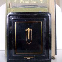 Jugendstil Buchstützen Soennecken N.9 Emaille