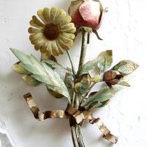 Vintage Florentiner Wandlampe Blumenstrauss