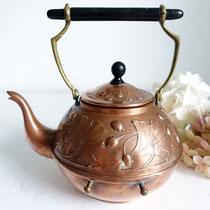 Antike Jugendstil Teekanne Kupfer