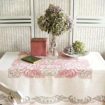 Antikleinen Tischdecke mit Kreuzstich Stickerei Handarbeit