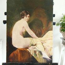 Antikes Ölgemälde 20er Jahre auf Leinwand Damenakt