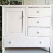 Holz Kommode 1910 Shabby weiss