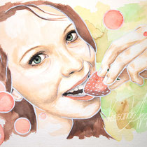 Aquarell Porträt/Illustration Din A4 #kassandrART