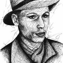 Portrait à la Kritzel Din A4 #kassandrART