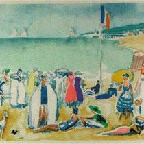 Strandscene Deauville