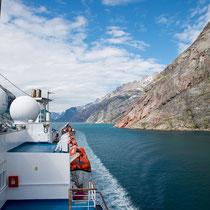 Prins-Christian-Sund - Sund = Fjord mit 2 Ausgängen