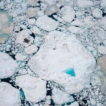 Blick aus 200m Höhe auf den Eisfjord