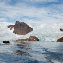 Prins-Christian-Sund - Gletscher mit Verbindung zum Inlandeis