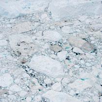 Eisfjord - 40 km lang - gefüllt mit Eisbergen