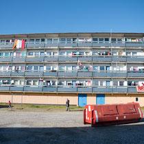 Paarmiut -Landgang - Wohnsilos für den geplanten Ausbau